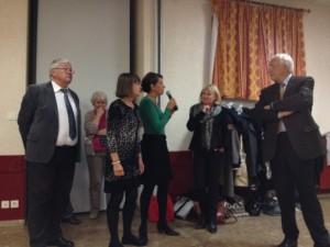 Réception en présence de Mr Méhaignerie maire de Vitré